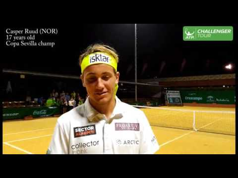 Casper Ruud Reacts To Winning Sevilla Challenger 2016 Title