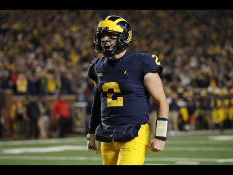 Michigan QBs Shea Patterson and Dylan McCaffrey TRAMPLE Wisconsin   10 carries, 134 Yards, 2 TDs