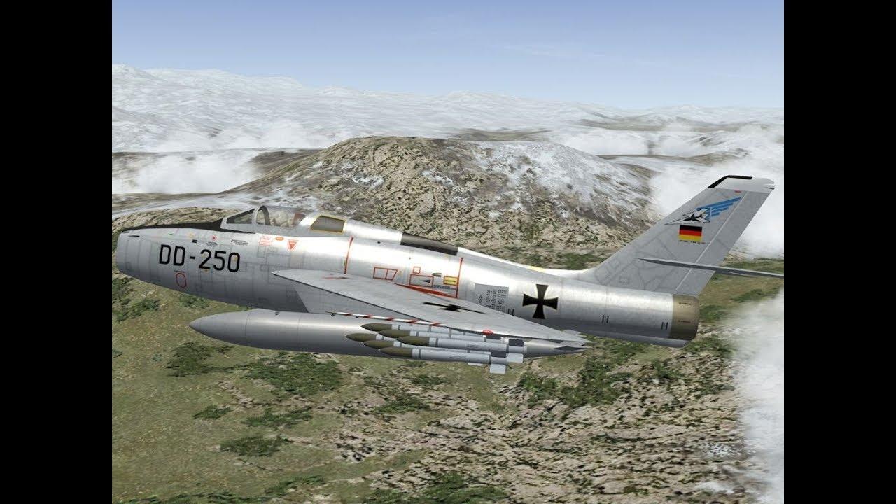 West German Luftwaffe 'Invades' East Germany 1961