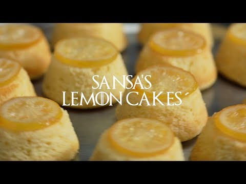Game of Thrones Watch Party Recipes | Sansa's Lemon Cakes
