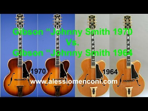 """Lament"" -Comparison between two Gibson Johnny Smith Sunburst 1970 - Natural 1964"