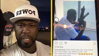 50 Cent Reacts To Hell Rell Getting The Strap Ready For Clowning Him!