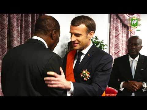 Dîner offert en l'honneur de S.E.M. Emmanuel MACRON, Président de la République française