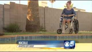 Video of valley teen jumping off roof, missing pool goes viral