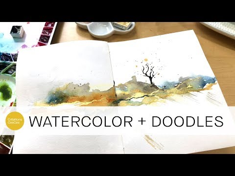 18mins of unedited watercolor playtime