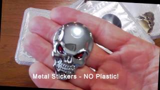 SKULL METAL STICKER REVIEW