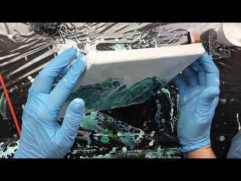( 920 ) Acrylic pouring Ocean colors