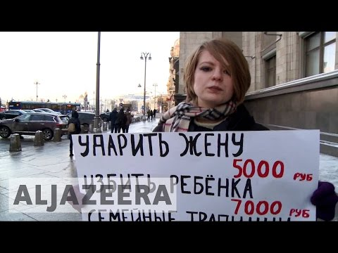 Outrage in Russia as MPs back domestic violence bill