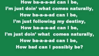 The Lorax-How Bad Can I Be-lyrics