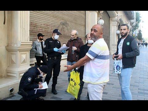 Beyoğlu'nda maskesiz dolaşanlara ceza kesildi! Vatandaşlar itiraz etti