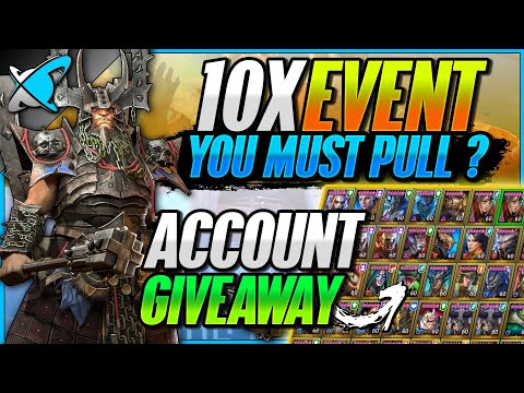 10X EVENT... You MUST Summon !? | INSANE Account Giveaway | RAID: Shadow Legends