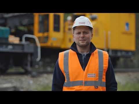 STRABAG: roboty sieciowe na magistrali kolejowej E59, odc. Wronki - Krzyż