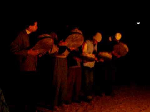 Berber drummers in the Moroccan Sahara