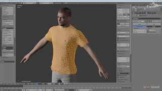 Blender 3D Clothes Modeling with Cloth Simulation - Sewing Springsで衣服のモデリングを試す