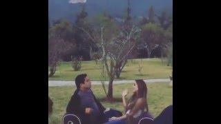 Anahi - filmando el video de la cancion Eres con Julion Alvarez 01.03.2016