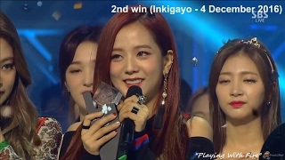 BLACKPINK (블랙핑크) Whistle + Playing With Fire (5 SHOW WINS COMPILATION + MELON MUSiC AWARDS 2016)