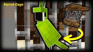 Minecraft - How To Make A Parrot Cage / Bird Cage