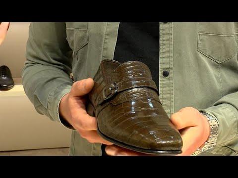 """Fuarın En Pahalısı…10 Bin Dolarlık Timsah Derisi Ayakkabıdan 3 Kişi Aldı, """"30 Kişi Sipariş Verdi"""""""