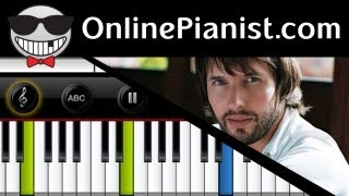 James Blunt - You're Beautiful - Piano Tutorial