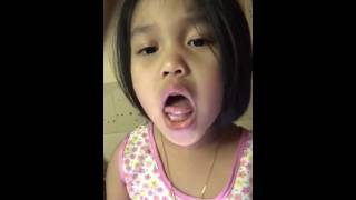 Cute little girl singing- Love me like you do