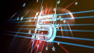 4K 3D Countdown Numbers Jagged Wireframe Ultra HD Animation
