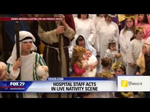 Mercy Fitzgerald Hospital Live Nativity on Fox29