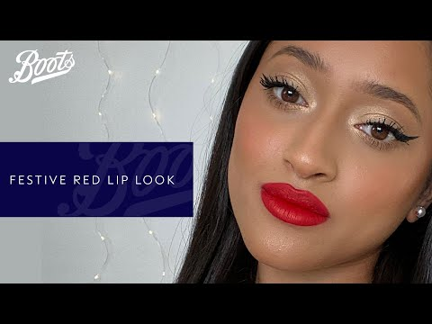 boots.com & Boots Voucher Code video: Make-up Tutorial |✨Stay in and Sparkle✨: Festive Christmas Red Lip with @saminahchou | Boots UK