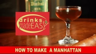 A 30 Second How To Make A Quick Manhattan Cocktail-Drinks Made Easy