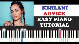 Kehlani - Advice (Easy Instrumental Piano Tutorial )