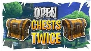 How to open a chest TWICE ! *FORTNITE* Duplication GLITCH ! Shock wave bomb