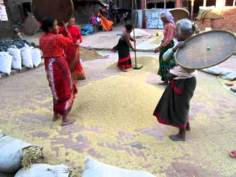 BHAKTAPUR WOMEN WORKING,  KATHMANDU. NEPAL