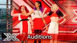 The Vixens do Little Mix's Word Up  | Auditions Week 2 | The X Factor UK 2016