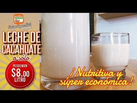 Leche de cacahuate casera  ¡Súper económica!, deliciosa y nutritiva - Cocina Vegan Fácil