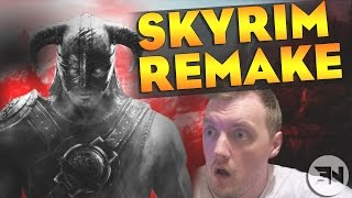 SKYRIM REMASTERED! WTF!!!!! LIVE REACTION - Skyrim Special Edition: 2016