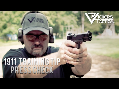 Wilson Combat 1911 Training Tip:  Press Check