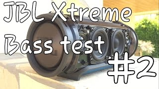 JBL Xtreme - Bass test (disassembled) #2