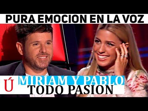 ¡Se comen con la mirada! El encuentro de Miriam y Pablo López en La Voz lleno de ternura
