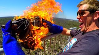 FIRE ANVIL Vs. DEODORANT CANS from 45 TOWER!!