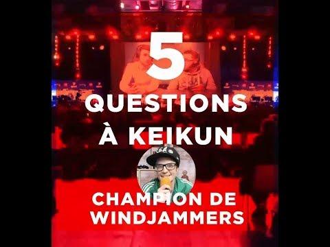 5 questions Keikun  - Champion de Windjammers
