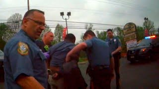 Cops fight with man who refused to give ID