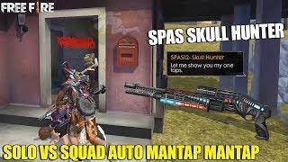 COMBO AK47 + SPAS SKULL HUNTER - SOLO VS SQUAD AUTO DAPAT BANYAK KILL! LANGSUNG MANTAP MANTAP!