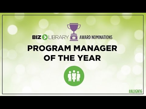 ALIGN 2016 - Program Manager of the Year