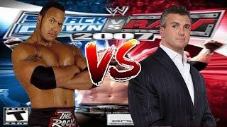 WWE Smackdown vs Raw 2007 The Rock vs Shane Mcmahon