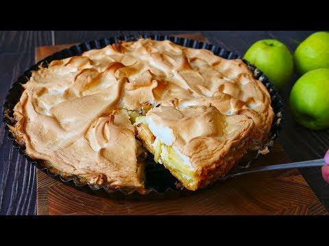 Яблочный Пирог на Творожной Подушке