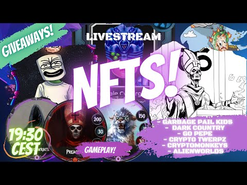 NFTs on WAX | Gameplay | Giveaways | Chatting