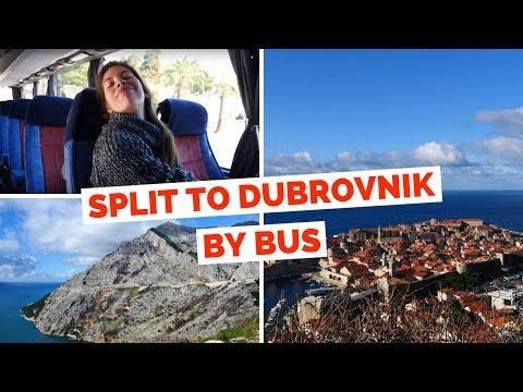 Split to Dubrovnik by Bus   Croatia Travel Vlog