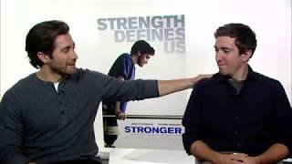 Casey Messer interviewing Jake Gyllenhaal-his new movie, Stronger width=