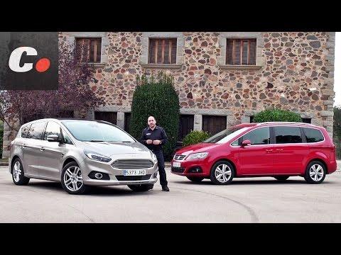 Ford S-Max vs Seat Alhambra 2015 / 2016 | Prueba Monovolumen 7 plazas (MPV) | Comparativa coches.net
