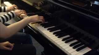 Pompeii - Bastille - Piano Cover four hands