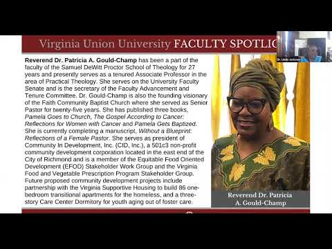 Faculty Spotlight | Reverend Dr. Patricia A. Gould-Champ